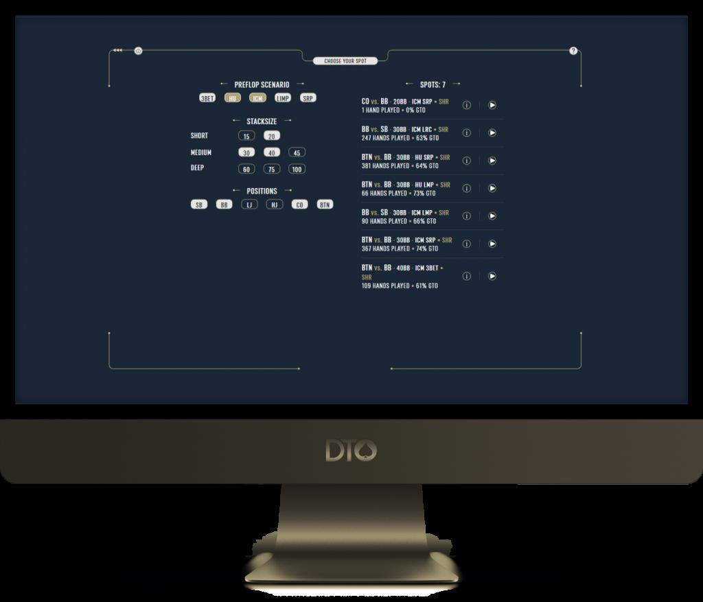 DTO Postflop ICM and HU Scenarios